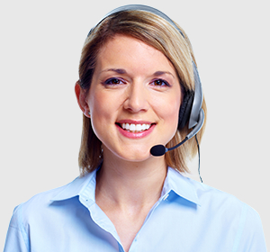Customer service representative ready to answer questions